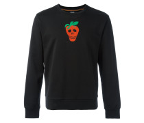 Sweatshirt mit Totenkopf-Print