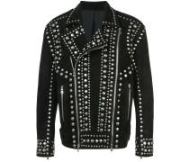 studded suede biker jacket
