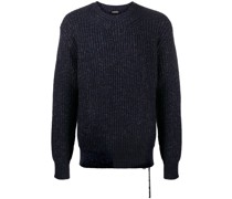 Pullover in Metallic-Optik