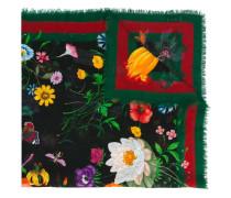 Flora Web print shawl - women - Seide/Wolle