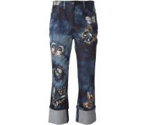 - 'Tie&Dye Japanese Butterfly' Jeans - women