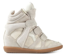High-Top-Sneakers mit Keilabsatz