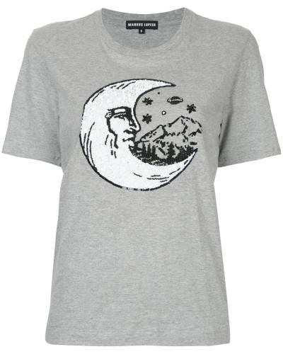 T-Shirt mit Mondmotiv