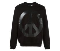 Sweatshirt mit Friedenszeichen-Print