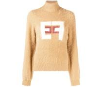 intarsia-knit logo jumper