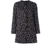 polka dot print coat