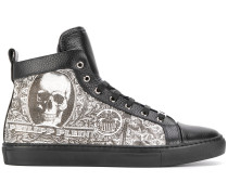High-Top-Sneakers mit Totenkopf-Print