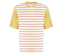 Gestreiftes T-Shirt mit Kontrastärmeln
