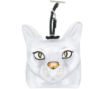 Taschenanhänger mit Katzengesicht