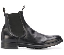 chunky slip-on leather boots