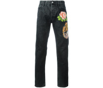 Jeans mit Tigerapplikation