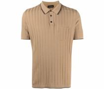 Poloshirt aus geripptem Strick