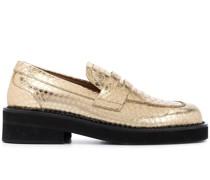 Loafer mit Schlangenleder-Effekt