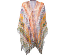 embroidered cape - women - Viskose/Nylon