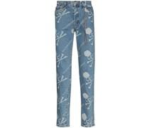 Slim-Fit-Jeans mit Logos
