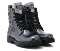Stiefel mit Metallic-Effekt