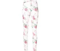 Jeans mit Rosen-Print