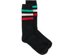 Socken mit Metallic-Streifen