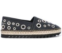 Espadrilles mit Ösen - women - Leder/rubber