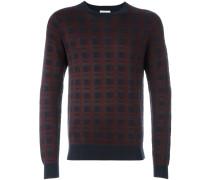 Karierter Intarsien-Pullover - men