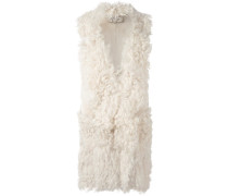 'Cloud' Mantel mit Shearling-Besatz