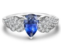 Platinring mit Diamanten