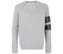 Sweatshirt mit gestreiftem Ärmel
