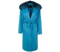 fox fur-trimmed coat
