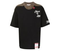 Zweifarbiges T-Shirt mit Logo-Print