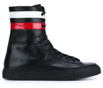 High-Top-Sneakers mit Kontraststreifen