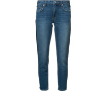 - 'Mila' Cropped-Jeans mit Kontraststreifen