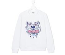 Sweatshirt mit Tiger-Print - kids - Baumwolle