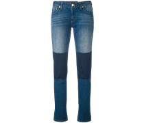 Jeans mit Patches - women - Baumwolle - 0