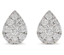 18kt Pear Gelbgoldohrringe mit Diamanten