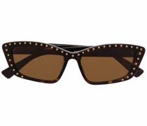 Nietenbesetzte Cat-Eye-Sonnenbrille