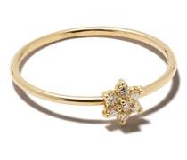 14kt Gelbgoldring mit Diamanten