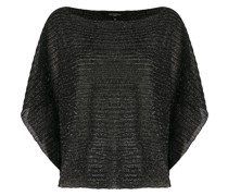 Gestrickter Metallic-Pullover