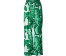 Pyjama-Hose mit Bananenblatt-Motiv