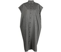 Midi-Kleid mit Karomuster