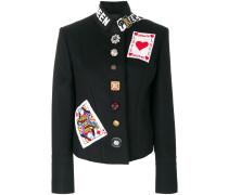 fitted embellished jacket