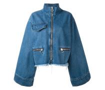 Jeansjacke mit ausgestellten Ärmeln