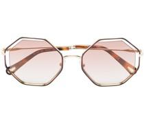 Sonnenbrille mit achteckigem Gestell