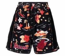 Miami Shorts mit grafischem Print