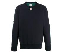 two-tone logo print sweatshirt