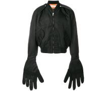 Gloves bomber jacket