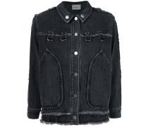 Jeansjacke mit ungesäumten Kanten