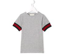 T-Shirt mit gewebten Bündchen