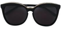 Runde Sonnenbrille mit Zierkette