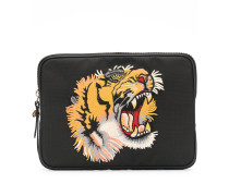 Clutch mit Tiger-Patch
