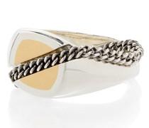 18kt Minia Crossy Weißgoldring